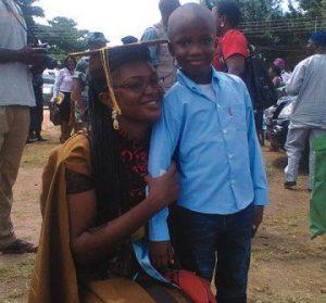 Aishat with her son, Damilola