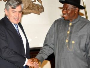 President Jonathan and former Britain PM, Gordon Brown